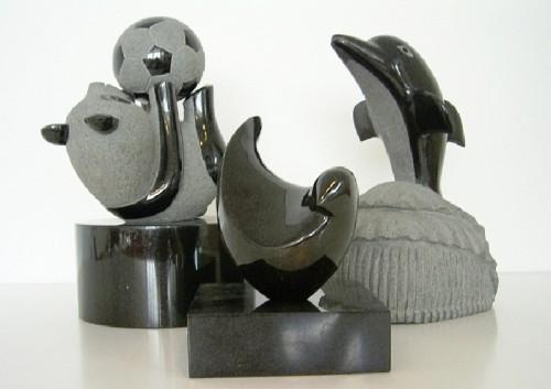 Accessoires zwart graniet dieren