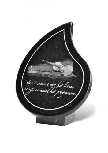 =gedenkplaat met graniet
