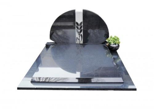 Dubbel graf monument zwart graniet