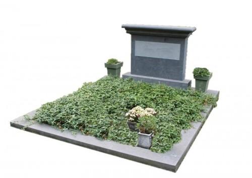Dubbel graf monument belgisch hardsteen